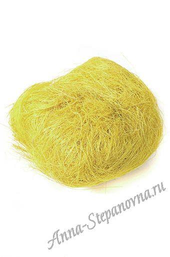 Сизаль натуральный светло-желтый