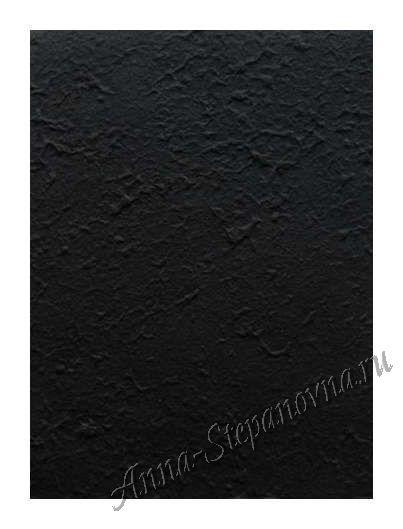 Бумага малбери плотная — Черная А4