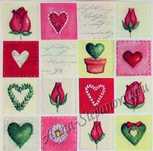 Салфетка для декупажа «Любовная мозаика»