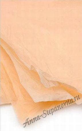 Бумага тишью светло-персиковая