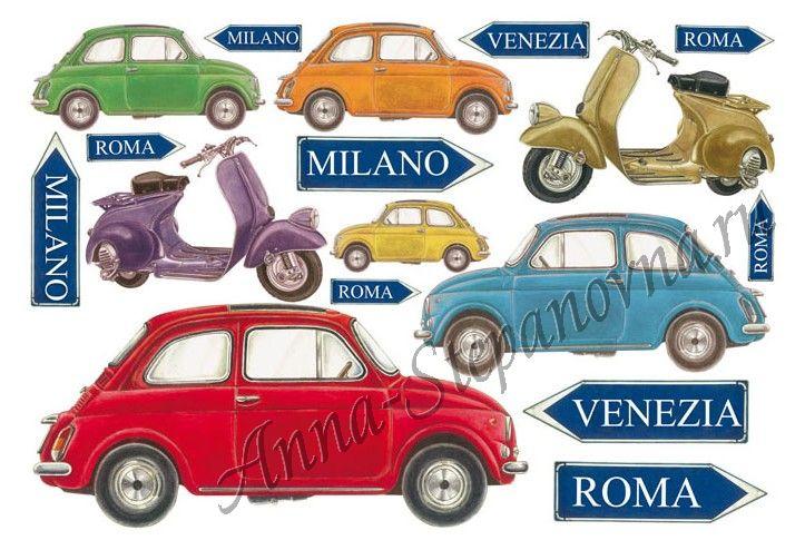 Бумага рисовая для декупажа «Итальянские каникулы»