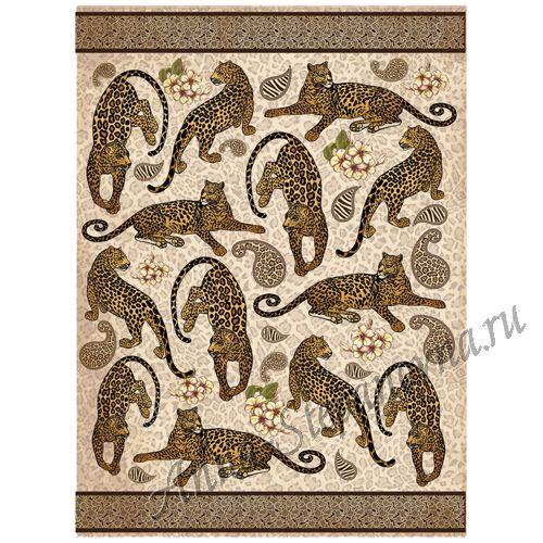 Рисовая бумага «Леопарды»