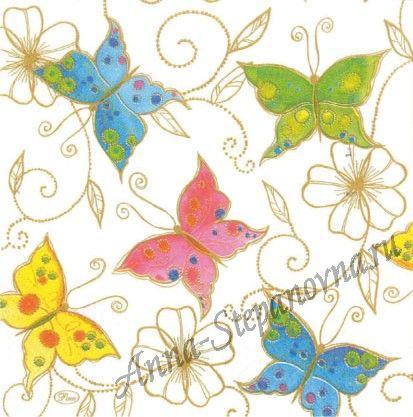 Салфетка для декупажа «Бабочка» №512