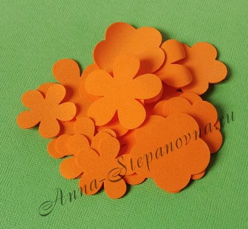 Лепестки из фоамирана оранжевые