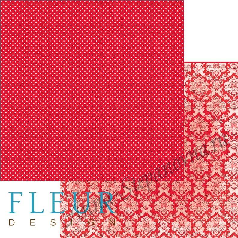 Бумага «Шебби Шик. Яркий красный»