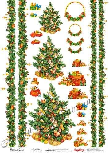 Карта для декупажа «Новогодние подарки»