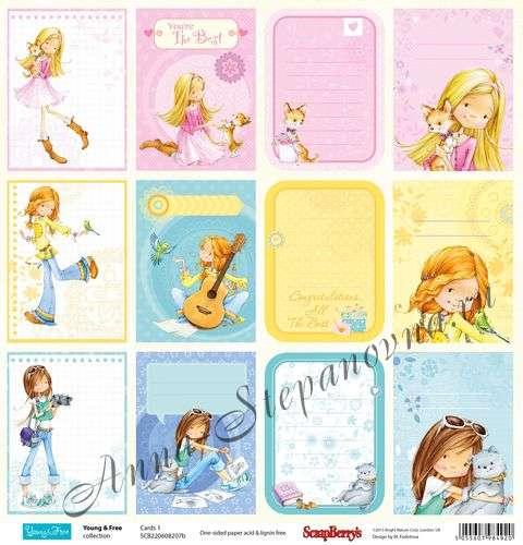 Бумага «Подружки. Карточки 1 Англ.»