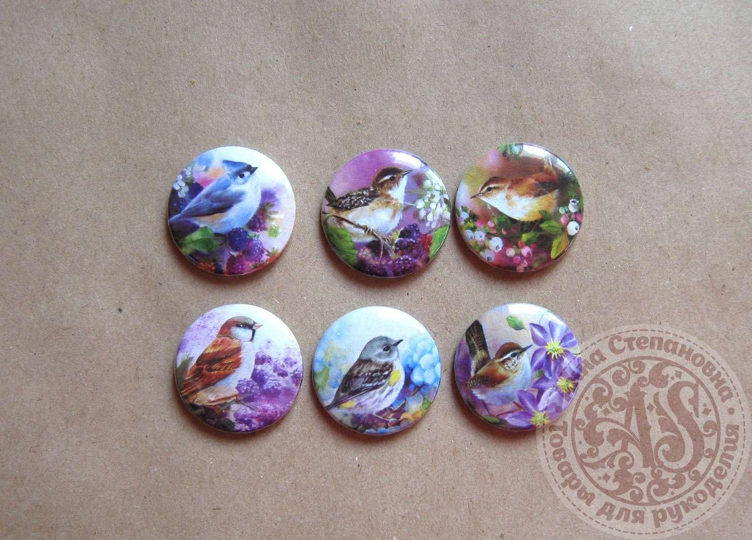 Набор фишек «Птицы в цветах»
