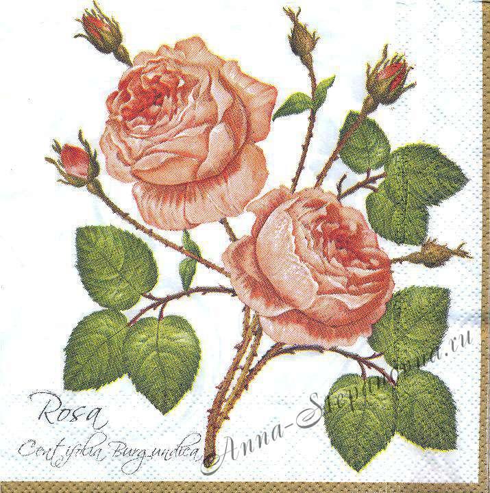 Салфетка «Старинная роза»