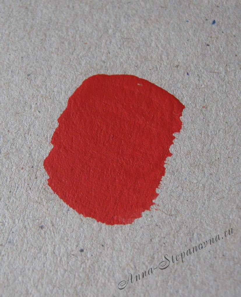 Краска «Красный» акриловая