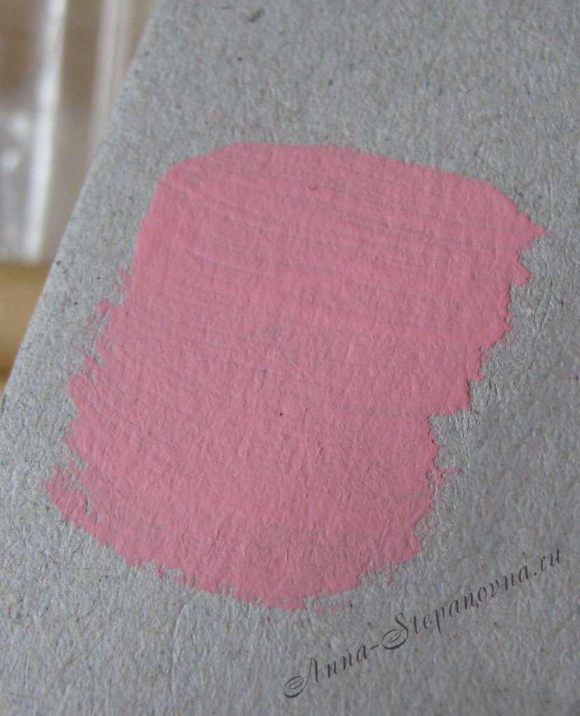 Краска «Розовый» акриловая
