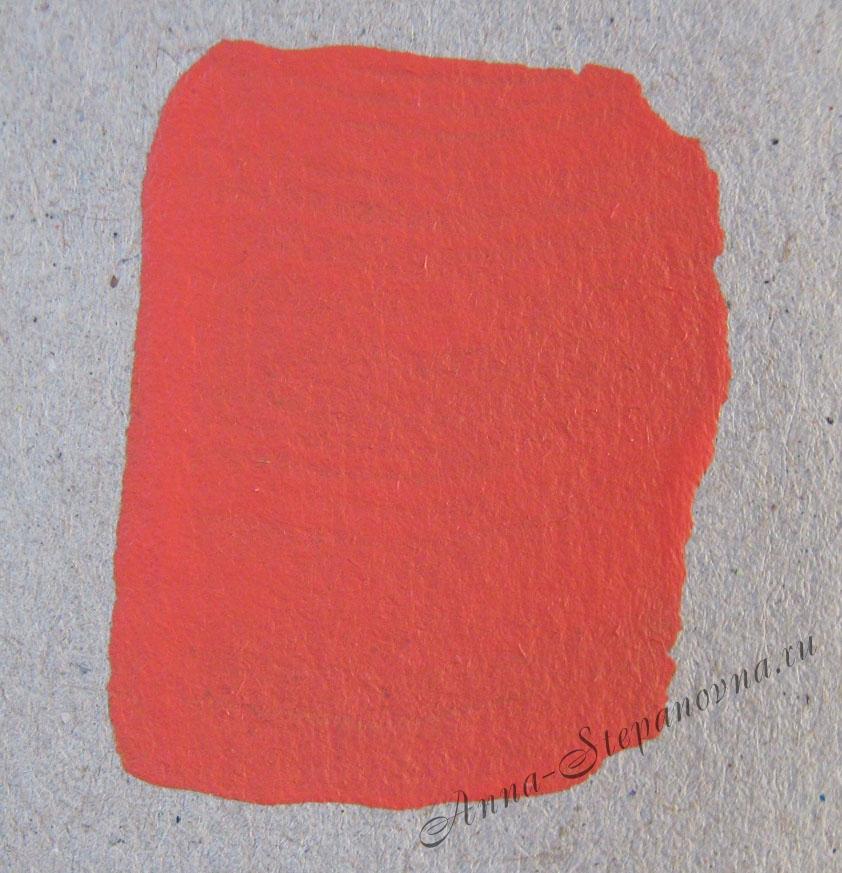 Краска «Красно-оранжевый» акриловая