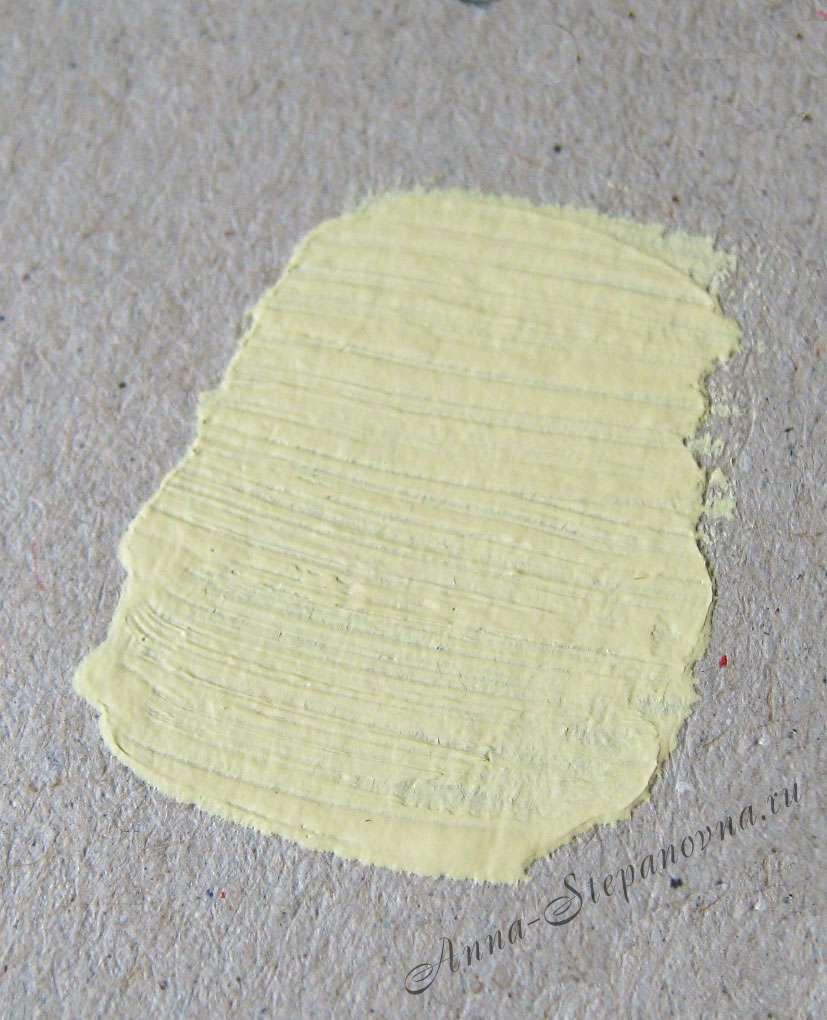 Краска «Шебби-желтый» акриловая