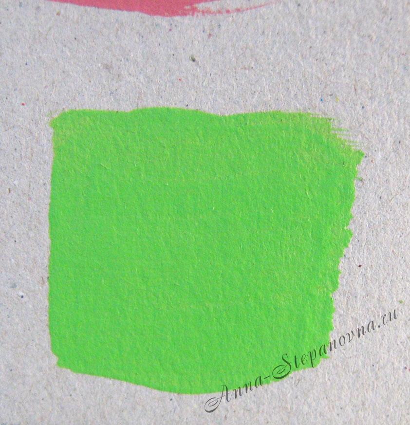Краска «Сочный зеленый» акриловая