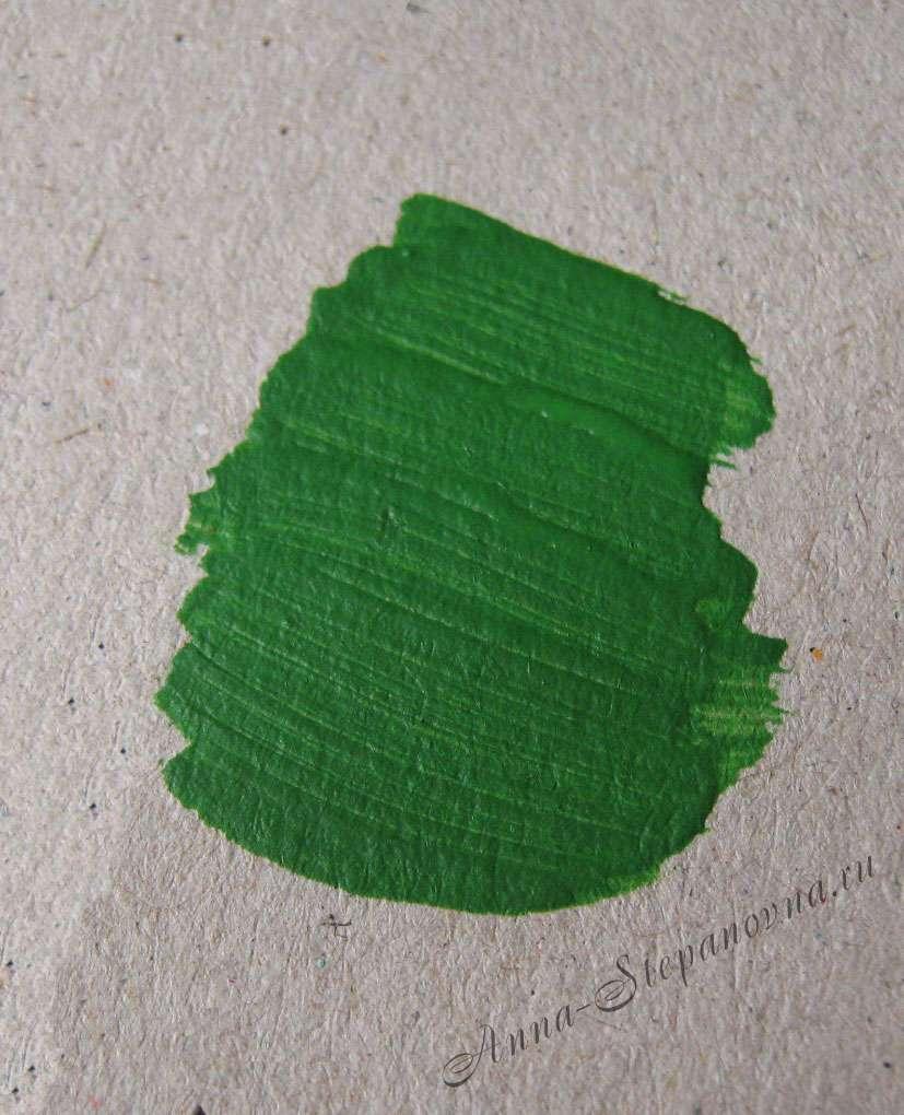 Краска «Зеленый» акриловая