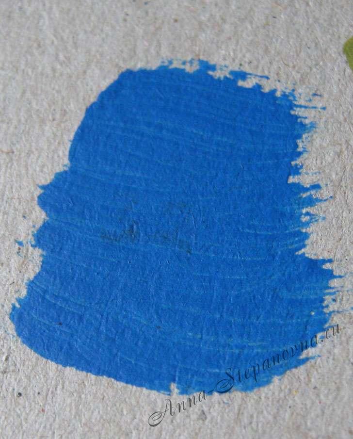 Краска «Синий» акриловая