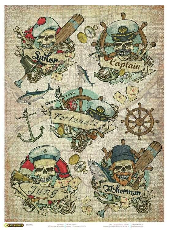 Рисовая бумага «Морские истории»