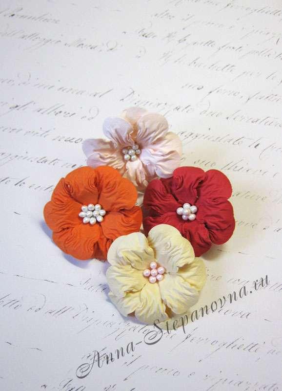 Цветы «Уютная зима» бумажные