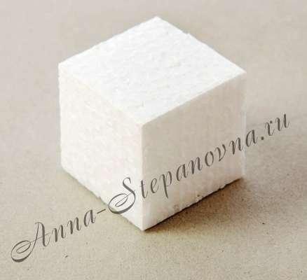 Куб из пенопласта 10 см.