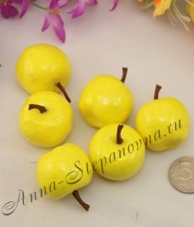 Декоративные яблочки желтые