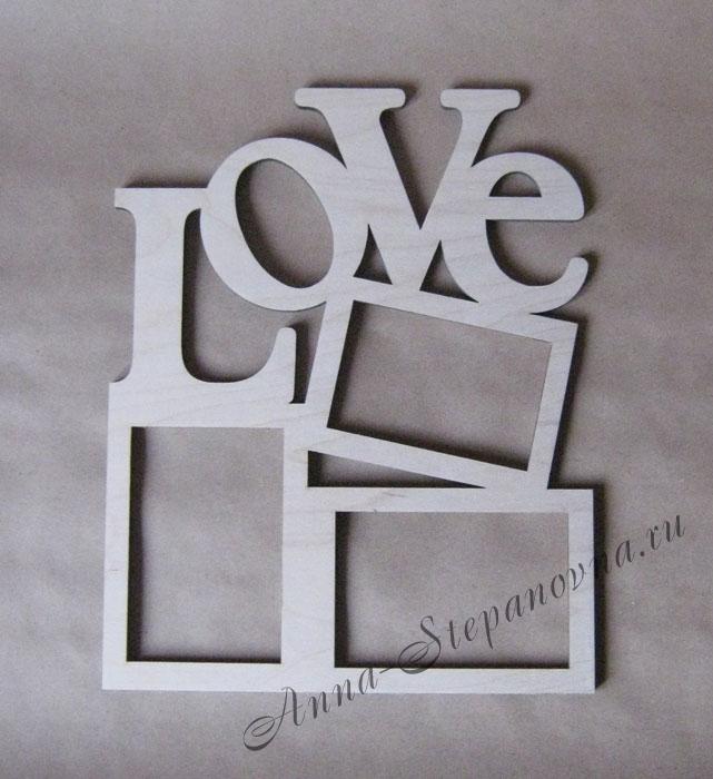 Фоторамка «Love» на 3 фото