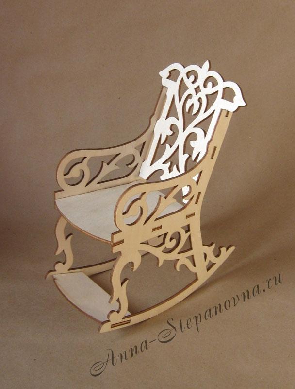 Мебель для куклы «Кресло-качалка»
