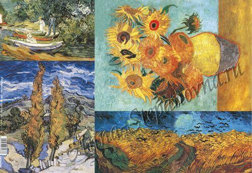 Бумага рисовая для декупажа «Ван Гог, фрагменты»