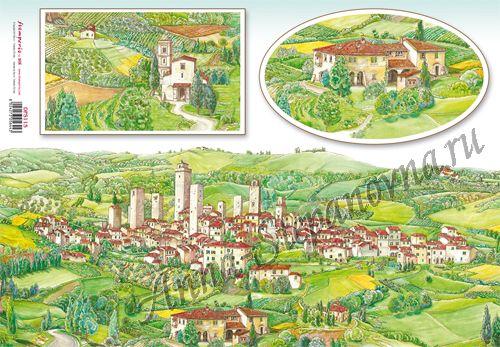 Бумага рисовая для декупажа Тосканская деревня