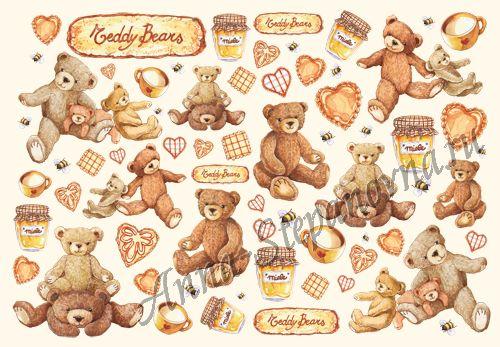Бумага рисовая для декупажа «Медвежонок Тэдди»