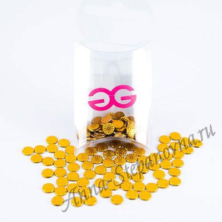 Термоклеевые стразы «Flower Gold»