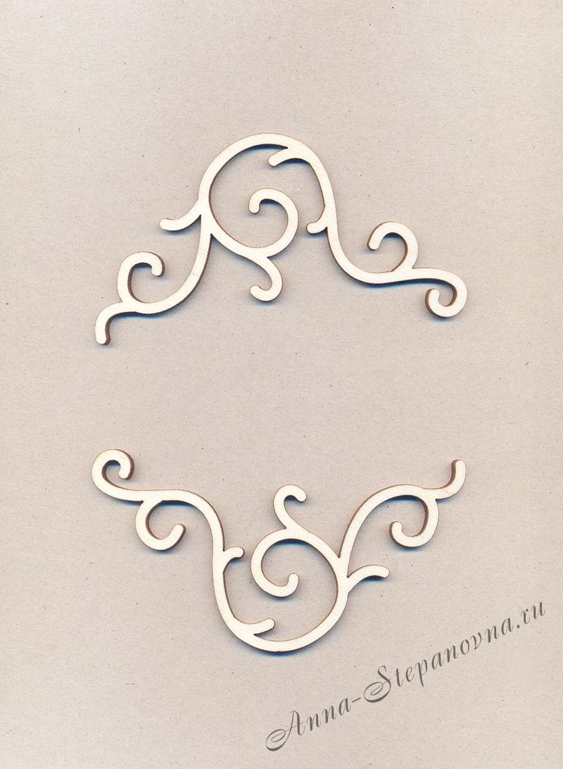 Уголки накладные «Узор №13» из фанеры