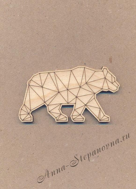 Заготовка-магнит «Медведь»