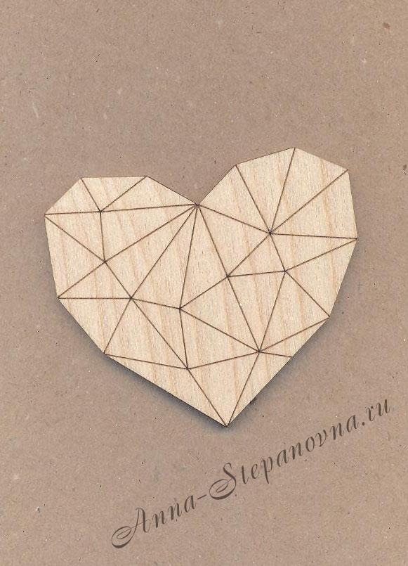Заготовка-магнит «Сердце»
