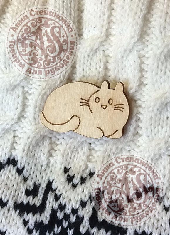Заготовка «Кошка» значок