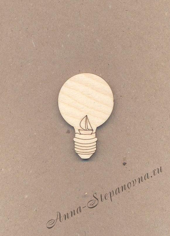 Заготовка «Мир в лампе» значок