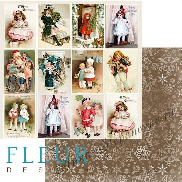 Бумага «Карточки. Новогодняя ночь»