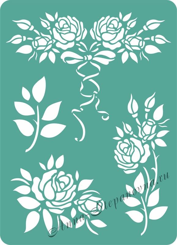 Трафарет «Розы»
