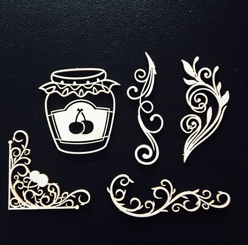 Чипборд Вишневый десерт