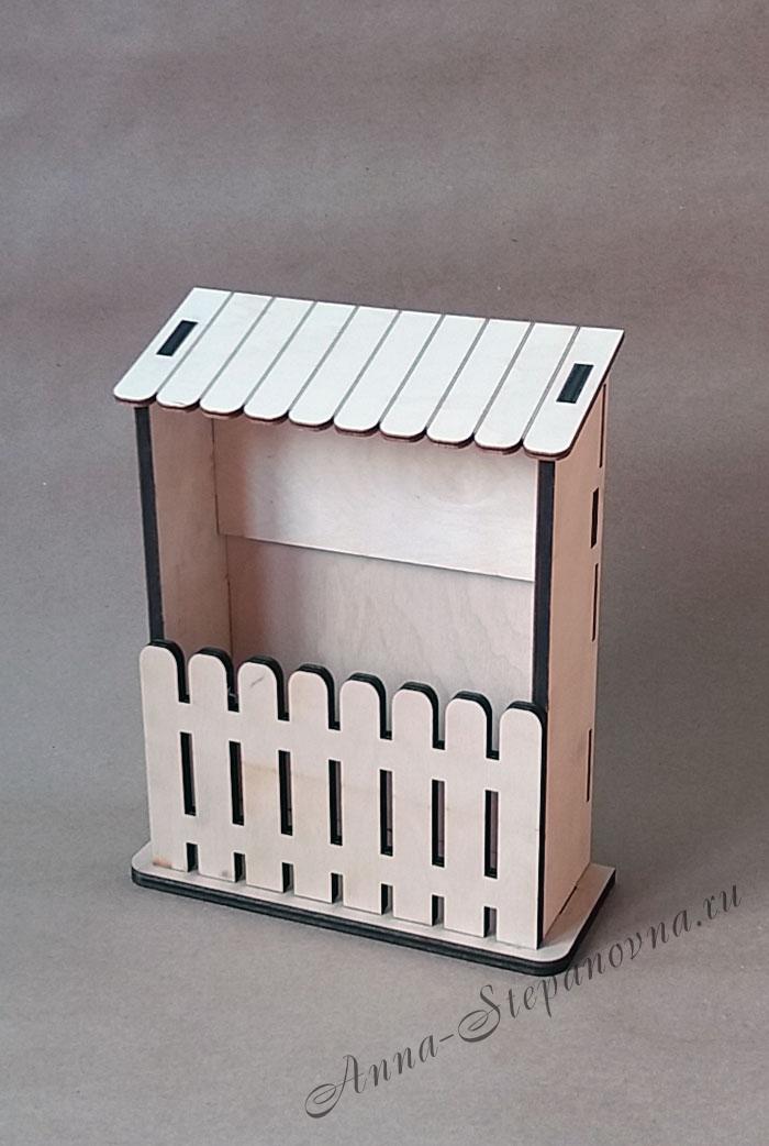 Ключница с забором вертикальная