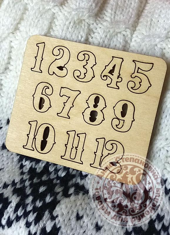 Цифры для часов фигурные