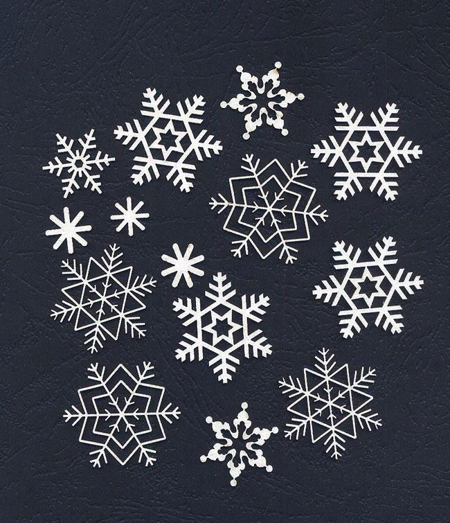 Чипборд «Снежинки»
