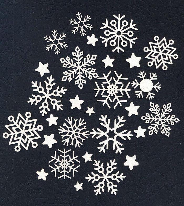 Чипборд «Снежный вальс»