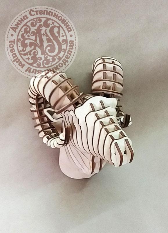Панно декоративное параметрическое «Баран»