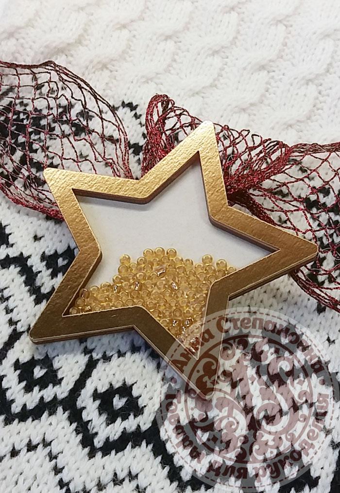 Чипборд шейкер «Звезда» золотой