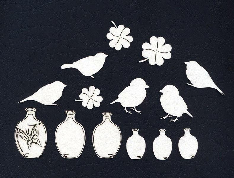 Чипборд «Птички. Немного волшебства»
