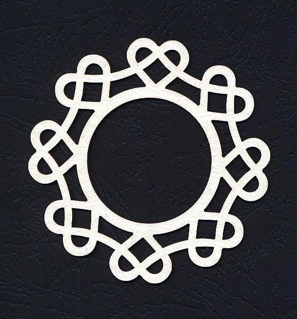 Чипборд «Рамка круглая. Даша»