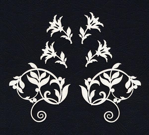 Чипборд «Цветы и завитки»