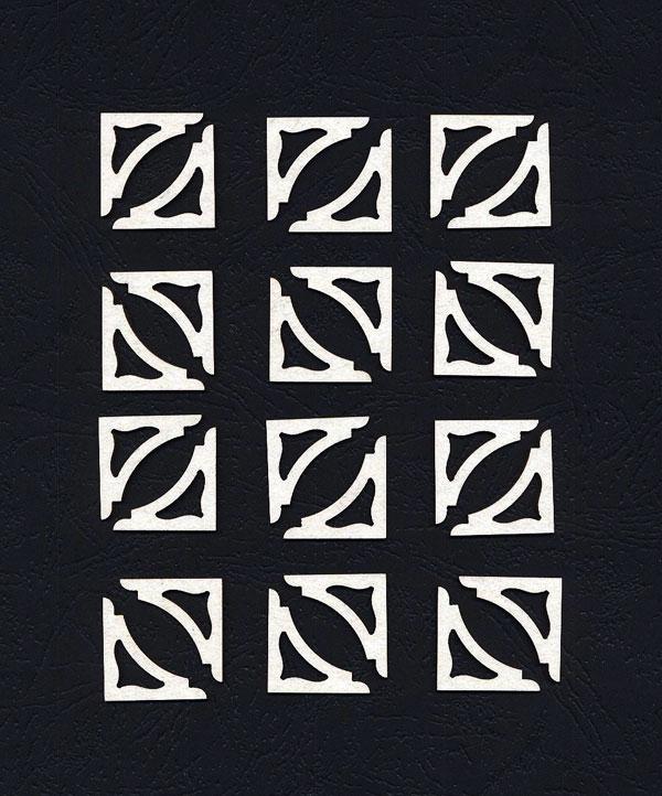 Чипборд «Уголки для фото и карточек №3»