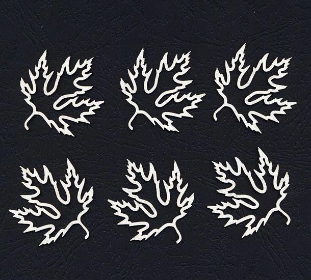 Чипборд «Листья клена ажурные»