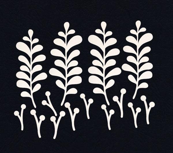 Чипборд «Зимние ягодки и листья»